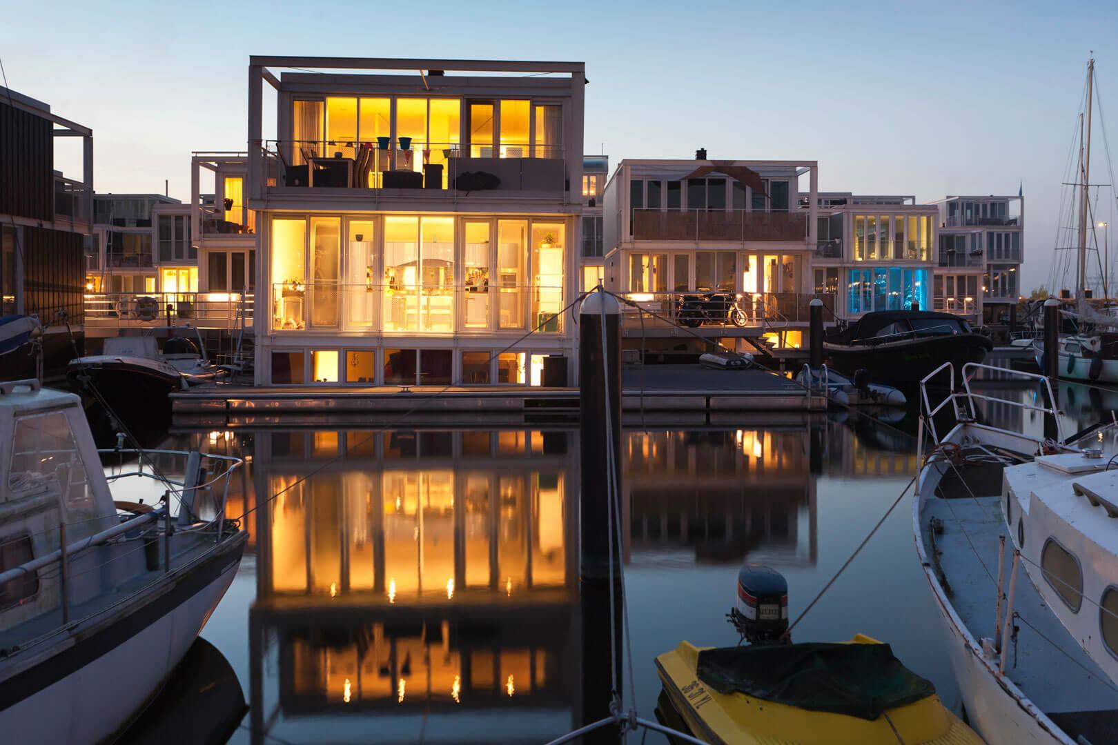 Wasserhäuser, Ijburg, Amsterdam, Merian Magazin