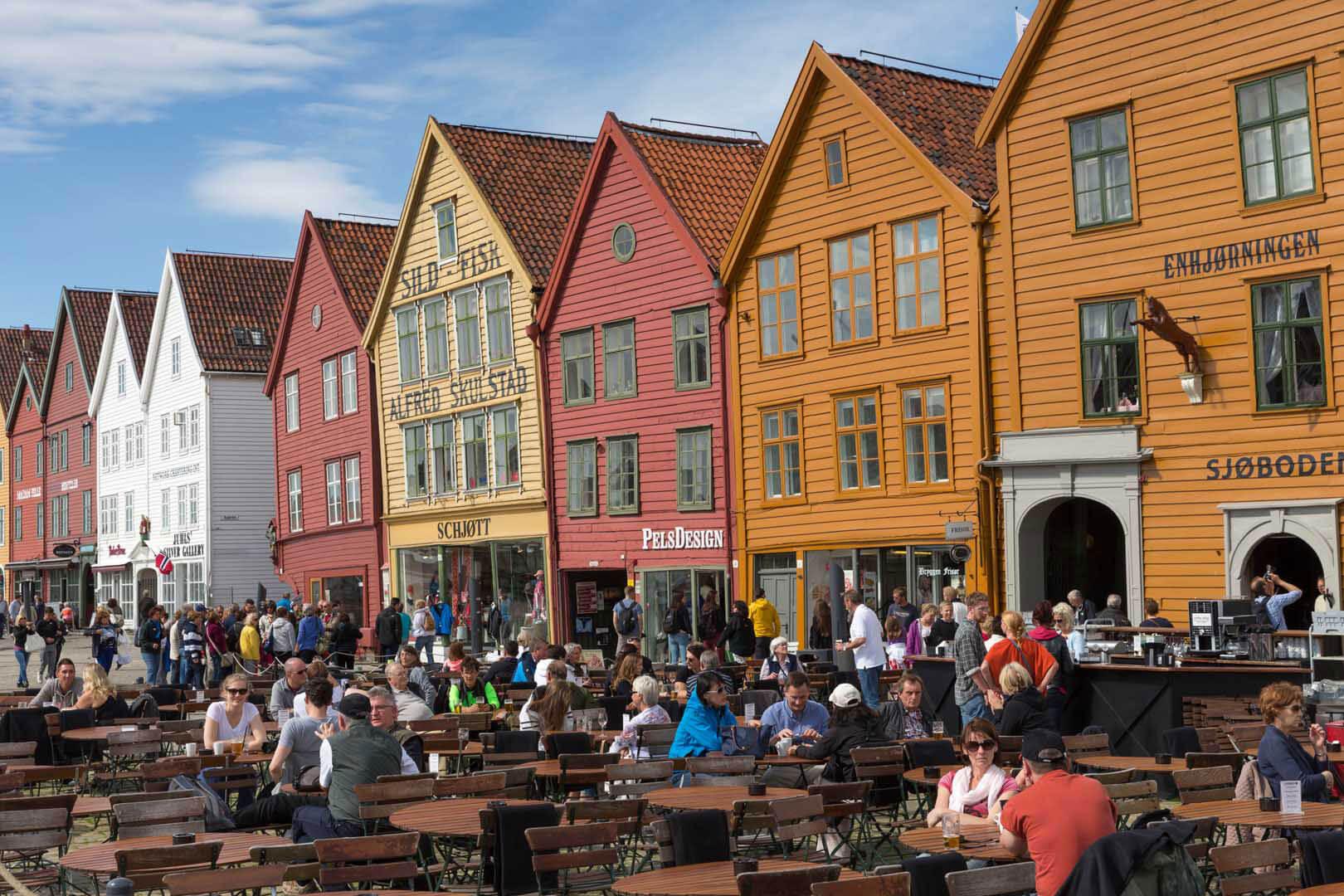 Bergen, Hurtigruten, Norwegen