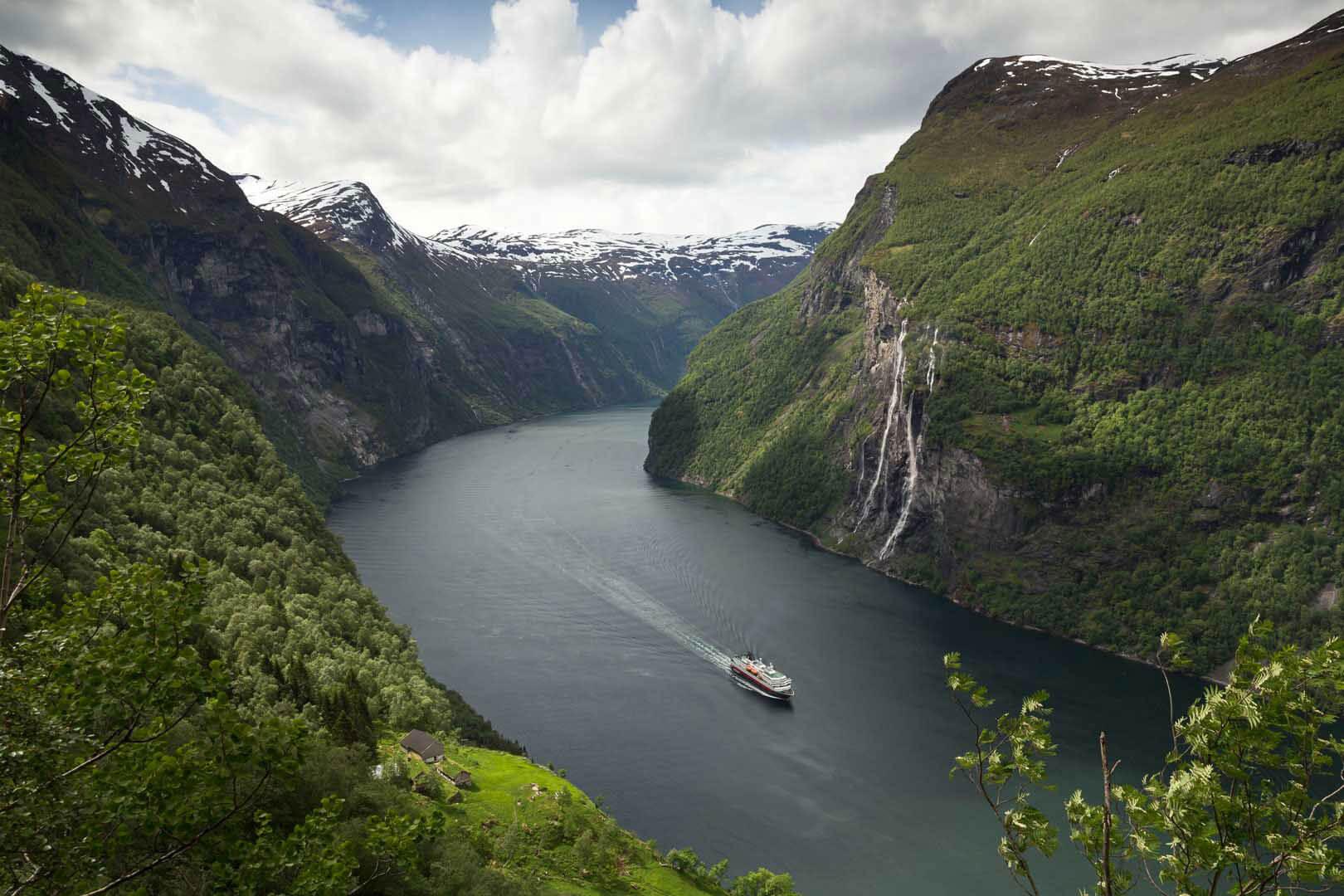 Geirangerfjord, Hurtigruten, Norwegen