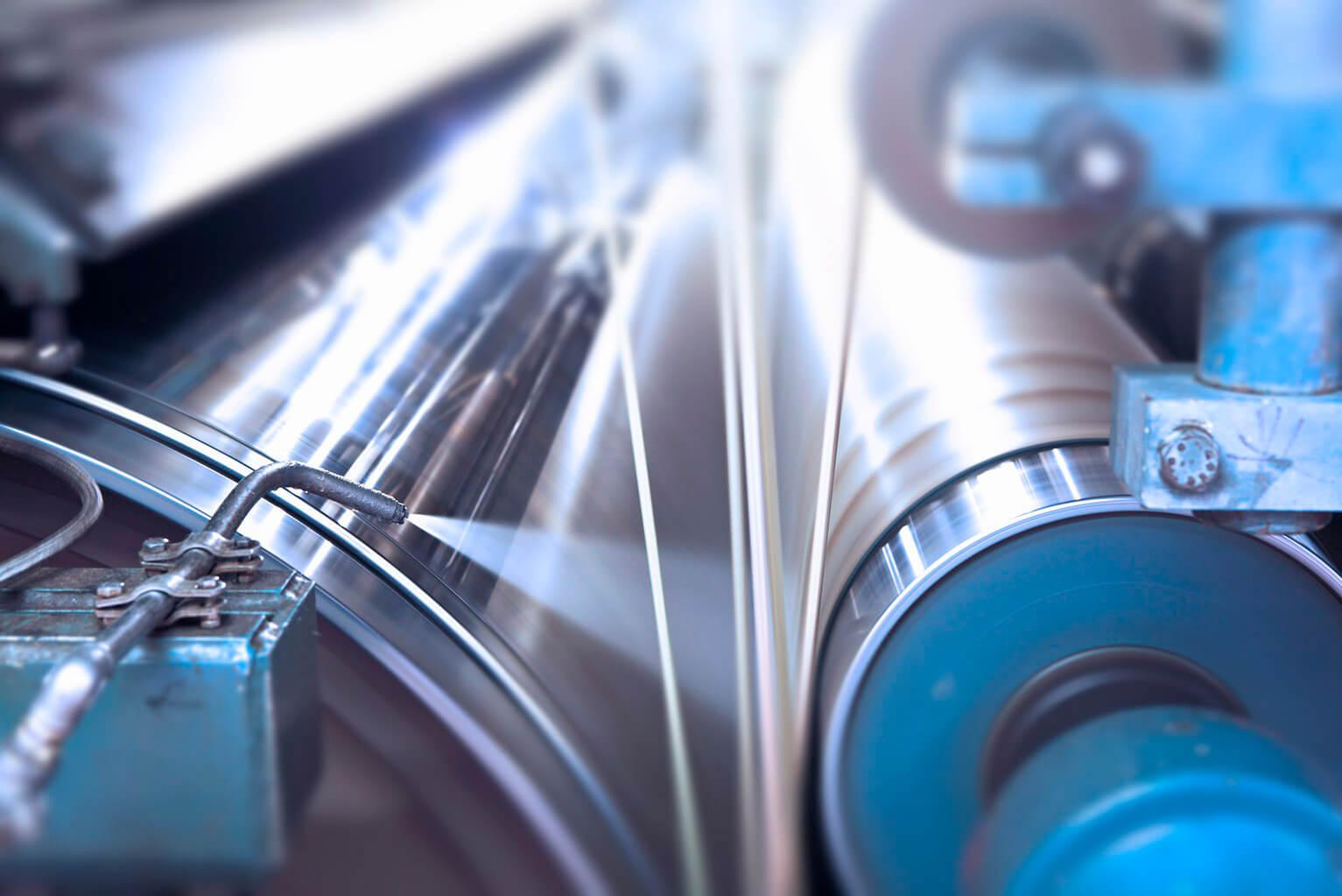 Werk Burg Gretesch - Detail Papiermaschine