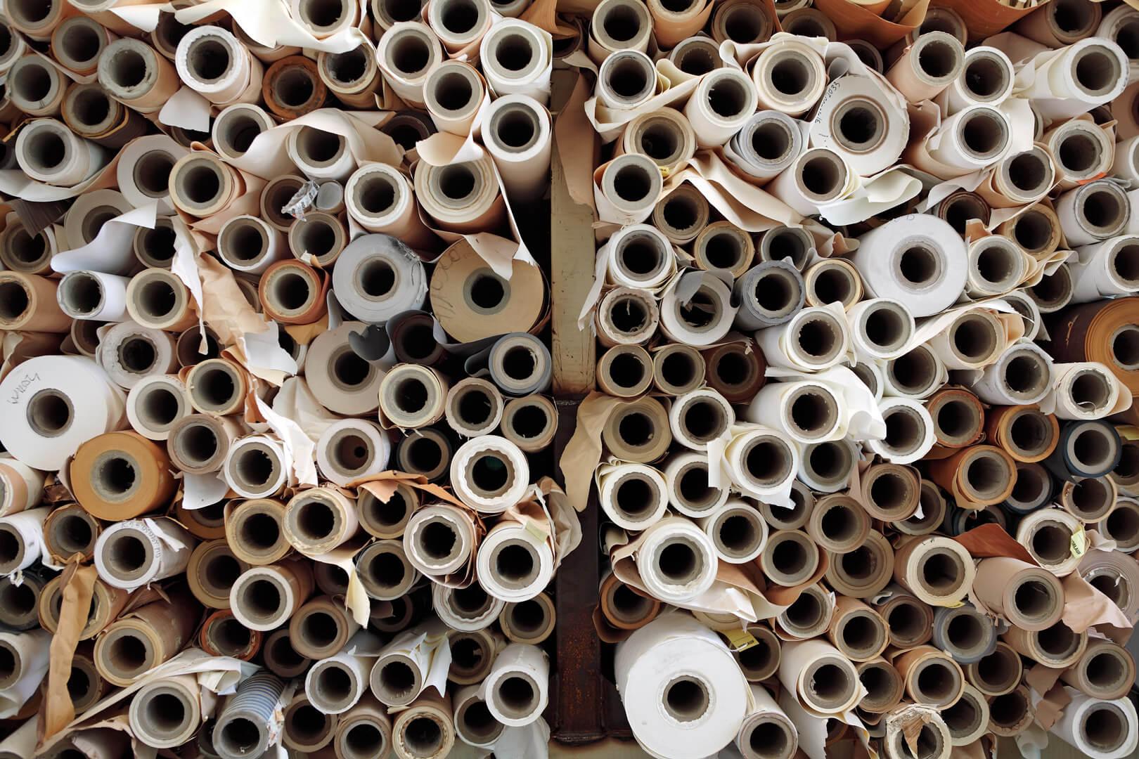 Werk Penig - Papierrollen Reste, Ausgangsmaterial für Regenerat Papier