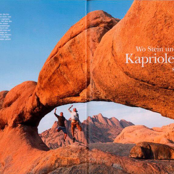 Merian Magazin Namibia, Portfolio