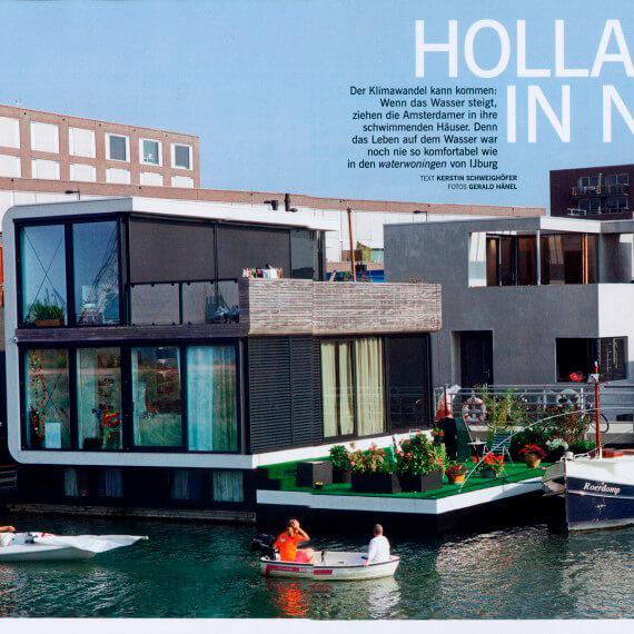 Merian Magazin Amsterdam, Reportage Watervillas