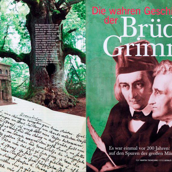 Merian Magazin Hessen, Reportage Auf den Spuren der Brüder Grimm