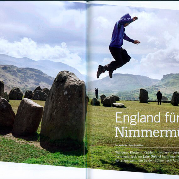 4-seasons Globetrotter Kundenmagazin, Reportage Lake District Reise mit Kindern