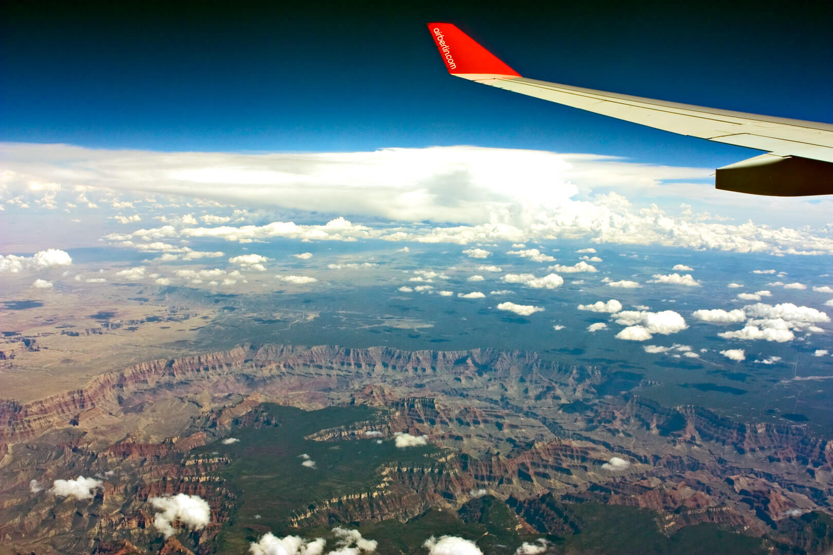 Flug über den Grand Canyon