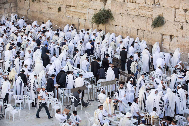 Klagemauer zu Jom Kippur, Jerusalem