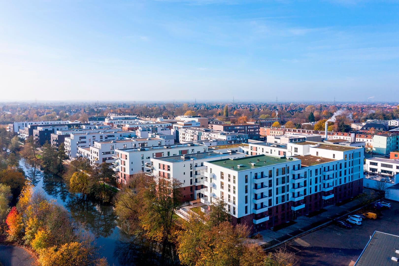 Glasbläserhöfe, Hamburg, Köster GmbH, Drohnenfoto